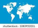 color world map  | Shutterstock .eps vector #1083952031