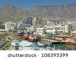 skyline view of cape town... | Shutterstock . vector #108395399