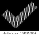 pixelated white yes icon on a...