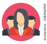 flat icon group work. business ...   Shutterstock .eps vector #1083960905