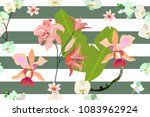 seamless botanical print with... | Shutterstock .eps vector #1083962924