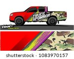 pickup truck livery graphic... | Shutterstock .eps vector #1083970157