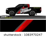 pickup truck livery graphic... | Shutterstock .eps vector #1083970247