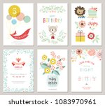 happy birthday invitations and... | Shutterstock .eps vector #1083970961