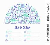 sea and ocean journey concept... | Shutterstock .eps vector #1083971324