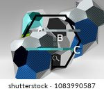 3d hexagon geometric... | Shutterstock .eps vector #1083990587