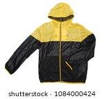 yellow and black windbreaker... | Shutterstock . vector #1084000424