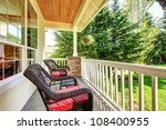 Front Covered Porch With Brown...