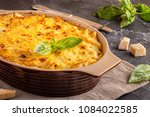 mac and cheese  american style... | Shutterstock . vector #1084022585