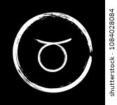 white taurus zodiac sign  hand...   Shutterstock .eps vector #1084028084