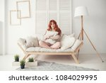 waking up in the morning is... | Shutterstock . vector #1084029995