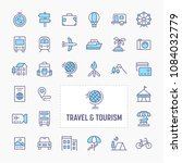 travel  tourism  vacation and... | Shutterstock .eps vector #1084032779