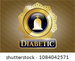 gold badge with tombstone... | Shutterstock .eps vector #1084042571