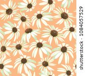chamomile flowers. seamless... | Shutterstock .eps vector #1084057529