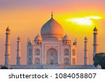 taj mahal at sunset   agra ... | Shutterstock . vector #1084058807