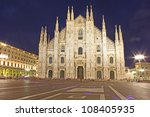 cathedral dome taken milan in...   Shutterstock . vector #108405935