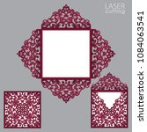 laser cut square envelope with... | Shutterstock .eps vector #1084063541