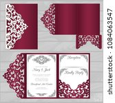 die laser cut wedding card... | Shutterstock .eps vector #1084063547