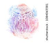 hand drawn ornate spiritual... | Shutterstock .eps vector #1084065581