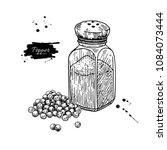 pepper shaker with peppercone... | Shutterstock .eps vector #1084073444