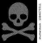 dot white death skull icon on a ... | Shutterstock .eps vector #1084075511
