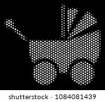 dot white baby carriage icon on ... | Shutterstock .eps vector #1084081439
