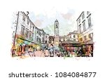 building landmark with street... | Shutterstock .eps vector #1084084877