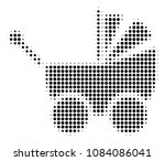 pixelated black baby carriage... | Shutterstock .eps vector #1084086041