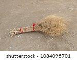 hand made broom  grass and...   Shutterstock . vector #1084095701