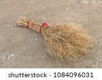 grass broom  handmade broom ...   Shutterstock . vector #1084096031