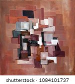 original abstract oil painting... | Shutterstock . vector #1084101737