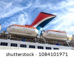 carnival liberty with rescue... | Shutterstock . vector #1084101971