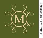 vintage ornamental monogram....   Shutterstock .eps vector #1084104371