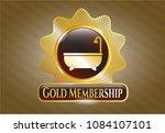 golden emblem or badge with... | Shutterstock .eps vector #1084107101