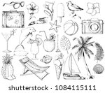 graphic set with camera ... | Shutterstock . vector #1084115111
