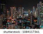 city aerial at night  ... | Shutterstock . vector #1084117361