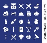 set of 25 food filled icons... | Shutterstock .eps vector #1084125791
