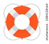lifebuoy color icon. flat... | Shutterstock .eps vector #1084128164