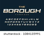 the borough trendy retro... | Shutterstock .eps vector #1084135991