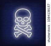 Skull And Bones Neon Sign....