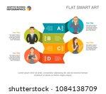 four colleagues process chart...   Shutterstock .eps vector #1084138709
