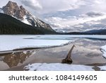 emerald lake and dramatic... | Shutterstock . vector #1084149605