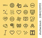 set of 25 shapes outline icons... | Shutterstock . vector #1084153955