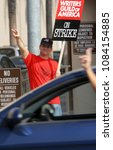 Small photo of Burbank, CA/ USA - Nov 05, 2007: Screenwriters picket the entrances to WB Studios in Burbank, California. Some 12,000 screenwriters went on strike against the U.S. film and television industry.