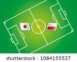 japan vs poland flags vector...   Shutterstock .eps vector #1084155527