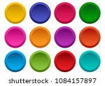 set of colorful round buttons.... | Shutterstock .eps vector #1084157897