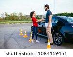 driving school or test.... | Shutterstock . vector #1084159451