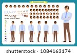 people character business set.... | Shutterstock .eps vector #1084163174