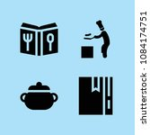 set of 4 cook filled icons such ...   Shutterstock .eps vector #1084174751