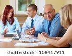 business team during meeting ... | Shutterstock . vector #108417911